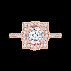 18K Pink Gold 1/4 Ct Diamond Carizza ...