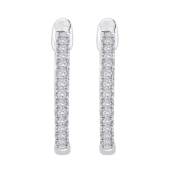 10K White Gold 3/4 ct. Diamond Fashion Earrings