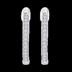 10K White Gold 3/4 ct. Diamond Fashion Earrings
