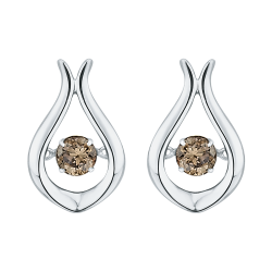 10K White Gold 1/3 ct. Diamond Fashion Earrings