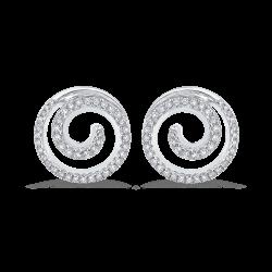 10K White Gold 3/8 Ct Diamond Fashion Earrings