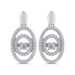 10K White Gold 1/3 ct Round White Diamond Fashion Earrings