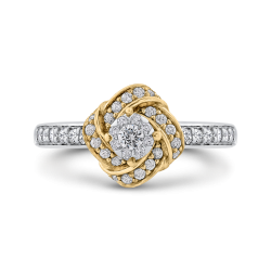 1/2 ct Round Diamond Knotted Fashion Ring In 10K Two Tone Gold