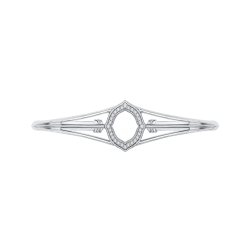 14K White Gold 3/8 Ct Diamond Lecirque Bangle Bracelet
