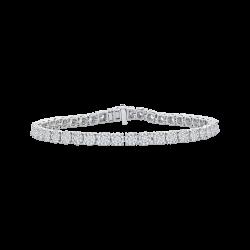 14K White Gold 4 2/3 Ct Diamond Lecirque Tennis Bracelet
