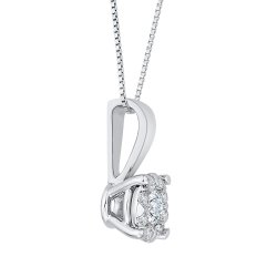 14K White Gold .13 Ct Diamond Lecirque Fashion Pendant