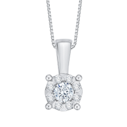 14K White Gold 1/3 Ct Diamond Lecirque Fashion Pendant