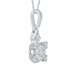 14K White Gold 3/8 Ct Diamond Lecirque Fashion Pendant
