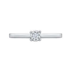 14K White Gold .11 Ct Diamond Lecirque Fashion Ring