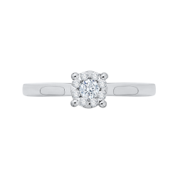 14K White Gold 1/5 Ct Diamond Lecirque Fashion Ring