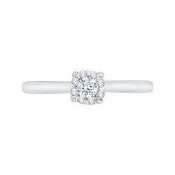 14K White Gold 1/4 Ct Diamond Lecirque Fashion Ring