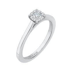 14K White Gold 1/4 Ct Diamond Lecirque Fashion Ring