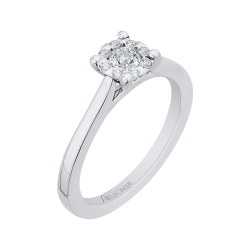 14K White Gold 1/3 Ct Diamond Lecirque Fashion Ring