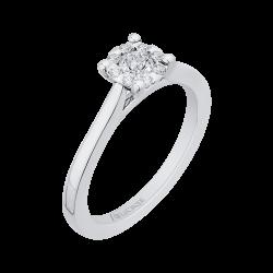 14K White Gold 1/3 Ct Diamond Lecirque Fashion Ring