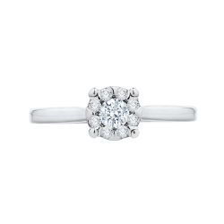14K White Gold 1/2 Ct Diamond Lecirque Fashion Ring