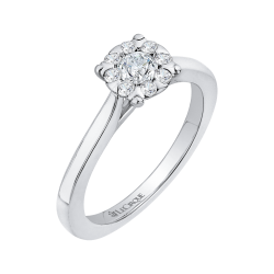 14K White Gold 1/2 Ct Diamond Lecirque Fashion Ring