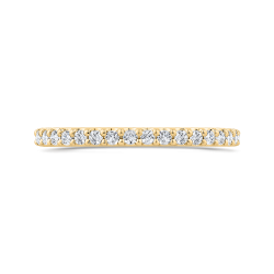 Round Diamond Half-Eternity Wedding Band In 14K Yellow Gold