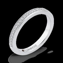 14K White Gold Round Diamond Half-Eternity Wedding Band
