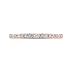14K Rose Gold Round Diamond Half-Eternity Wedding Band