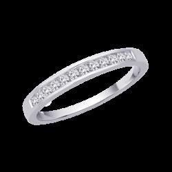14K White Gold, Diamond Wedding Band (1/5 cttw)