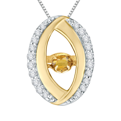 10K Yellow Gold .14 ct. Diamond Fashion Pendant