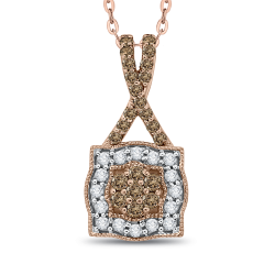 10K Rose Gold 1/4 ct Diamond Fashion Pendant