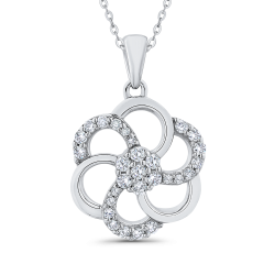 Diamond gold necklaces shah luxury 10k white gold 13 ct diamond fashion pendant with chain audiocablefo