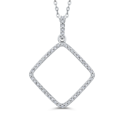 Diamond pendants necklaces shah luxury 10k white gold 14 ct diamond fashion pendant with chain aloadofball Gallery