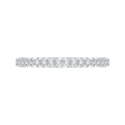 14K White Gold .36 ct. Diamond Promezza Wedding Band