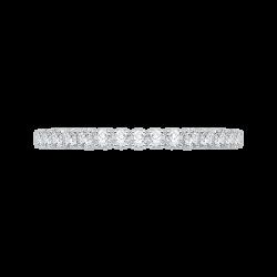 14K White Gold .31 ct. Diamond Promezza Wedding Band