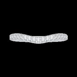 14K White Gold .26 ct. Diamond Promezza Wedding Band