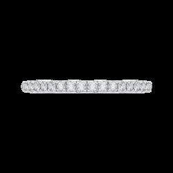 Round Diamond Half-Eternity Wedding Band In 14K Two-Tone Gold