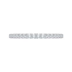 14K White Gold 3/8 Ct. Diamond Promezza Wedding Band