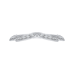 14K White Gold 1/4 Ct. Diamond Promezza Wedding Band