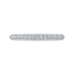 Platinum Round Cut Diamond Half-Eternity Wedding Band
