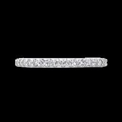 Round Cut Diamond Half-Eternity Wedding Band In Platinum