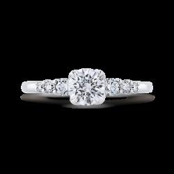 14K White Gold 1.07 Ct Diamond Promezza Engagement Set with Round Center