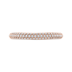 14K Pink Gold Diamond Wedding Band
