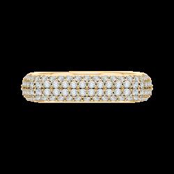 18K Yellow Gold 1 7/8 Ct Diamond Carizza Boutique Fashion Ring