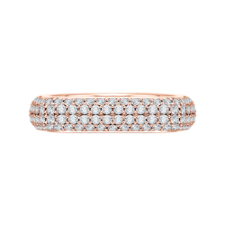 18K Pink Gold 1 7/8 Ct Diamond Carizz...