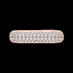 18K Pink Gold 1 7/8 Ct Diamond Carizz...