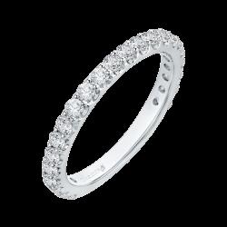 18K White Gold 7/8 Ct Diamond Carizza Boutique Wedding Band