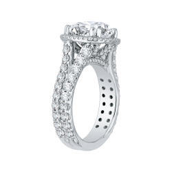 18K White Gold 1 2/3 Ct Diamond Carizza Boutique Bridal Ring