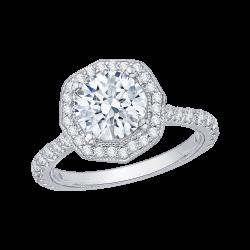 18K White Gold 1 1/4 Ct Diamond Carizza Boutique Bridal Ring