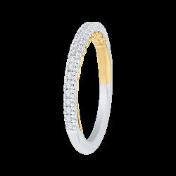 18K Two-Tone Gold 1/4 Ct Diamond Carizza Boutique Wedding Band