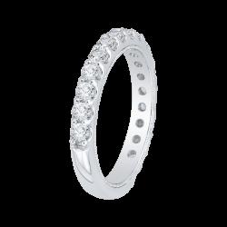 18K White Gold 1 .06 Ct Diamond Carizza Boutique Wedding Band