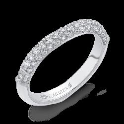 18K White Gold 5/8 Ct Diamond Carizza Boutique Wedding Band