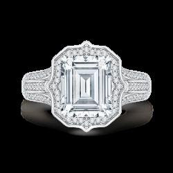 18K White Gold 7/8 Ct Diamond Carizza...