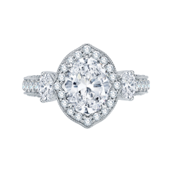 18K White Gold 1 1/2 Ct Diamond Cariz...