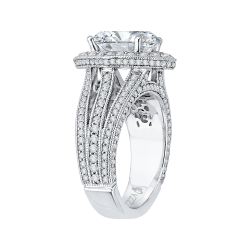 18K White Gold 1 3/8 Ct Diamond Carizza Boutique Bridal Ring